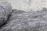 500 g gewaschene Vlieswolle - Blaue Texelschaf (Hellgrau)_