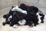 1 kg Basiswolle / Füllwolle - gewaschen (Gemischt)_