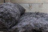 250 g gewaschene Vlieswolle - Herdwick (Grau)_