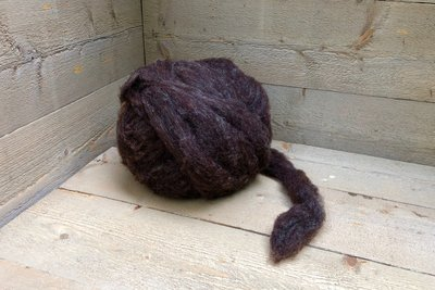 500 g gew. Kammzugwolle - Dassenkopf (Moorit)