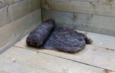 100 g gewaschene Vlieswolle - Dassenkopf (Mioget)