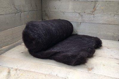 500 g gewaschene Vlieswolle - Dassenkopf (Dunk. Braungrau)