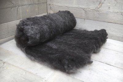 500 g gewaschene Vlieswolle - Blaue Texelschaf (Dunkelgrau)