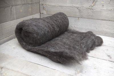 500 g gewaschene Vlieswolle - Blaue Texelschaf (Mittelgrau)