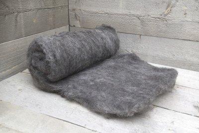 500 g gewaschene Vlieswolle - Blaue Texelschaf (Hellgrau)