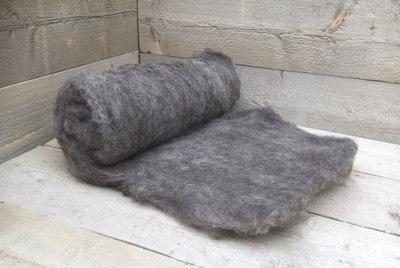 500 g gewaschene Vlieswolle - Drenter Heideschaf (Grau)