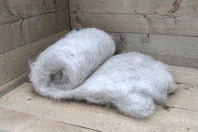 500 g gewaschene Vlieswolle - Drenter Heideschaf (Meliert)