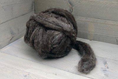 500 g gew. Kammzugwolle - Blaue Texelschaf (Mittelgrau)
