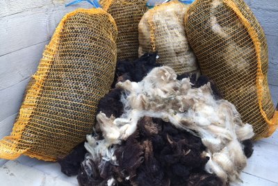 Mengenrabbatt 5 kg Basiswolle / Füllwolle - pur (Gemischt)