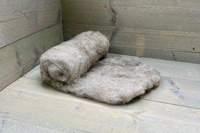 250 g gewaschene Vlieswolle - Shetland (Musket)