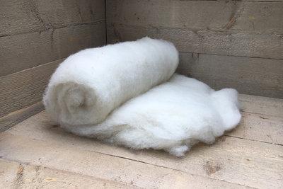 500 g gewaschene Vlieswolle - Swifter (Elfenbeinfarbig)