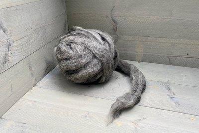 500 g gew. Kammzugwolle - Veenkolonisten (Grau)