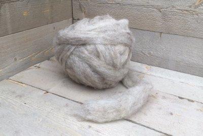 500 g gew. Kammzugwolle - Drenter Heideschaf (Meliert)
