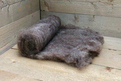 250 g gewaschene Vlieswolle - Karakul (Kupfer)