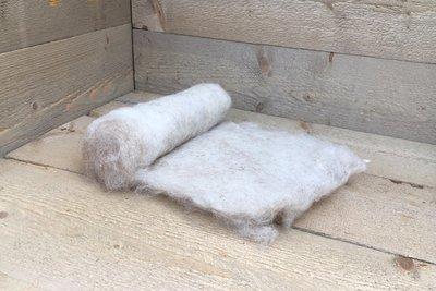 100 g gewaschene Vlieswolle - Drenter Heideschaf (Rötlich)