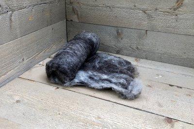 100 g gewaschene Vlieswolle - Basiswolle / Füllwolle (Gemischt)