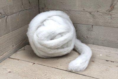 500 g gew. Kammzugwolle - Texelschaf (Elfenbeinfarbig)