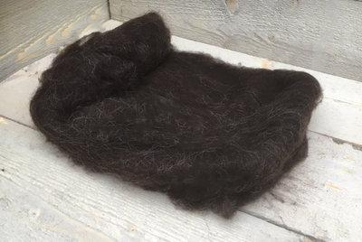 100 g gew. Vlieswolle - Drenter Heideschaf (Braunschwarz)