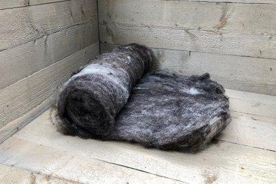 500 g gewaschene Vlieswolle - Basiswolle / Füllwolle (Gemischt)