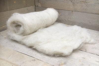 500 g gewaschene Vlieswolle - Schoonebeeker (Naturfarben)